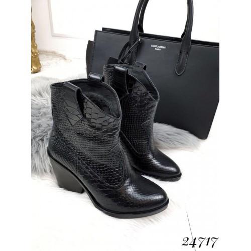 Кожаные ботинки Kazaki кожа питон
