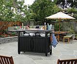 Стол для гриля, барбекю Keter Unity XL 207 L Graphite ( графит ), фото 8