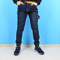 Детские джинсовые джоггеры мальчику с накладными карманами тм Resser Denim размер 11,12,13,14,15,16