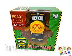 """Игровая фигурка """"Роботы поезда"""" Джеффри герой  /  Поезд трансформер RM 007 - 11 см"""