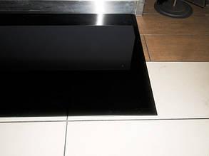 Защита пола перед камином 113х50 каленое черное скекло, фото 2