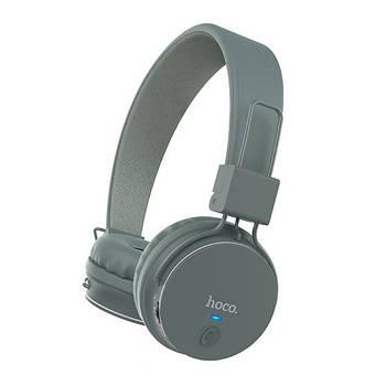 Наушники Hoco W19 Easy move wireless headset Gray
