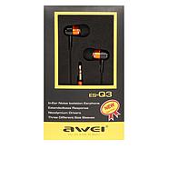 Наушники Awei ES-Q3 Orange, фото 2