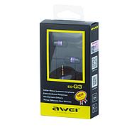 Наушники Awei ES-Q3 Purple, фото 2