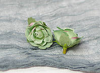 Головка мини розы. зеленая