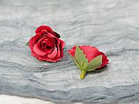 Головка мини розы. красная