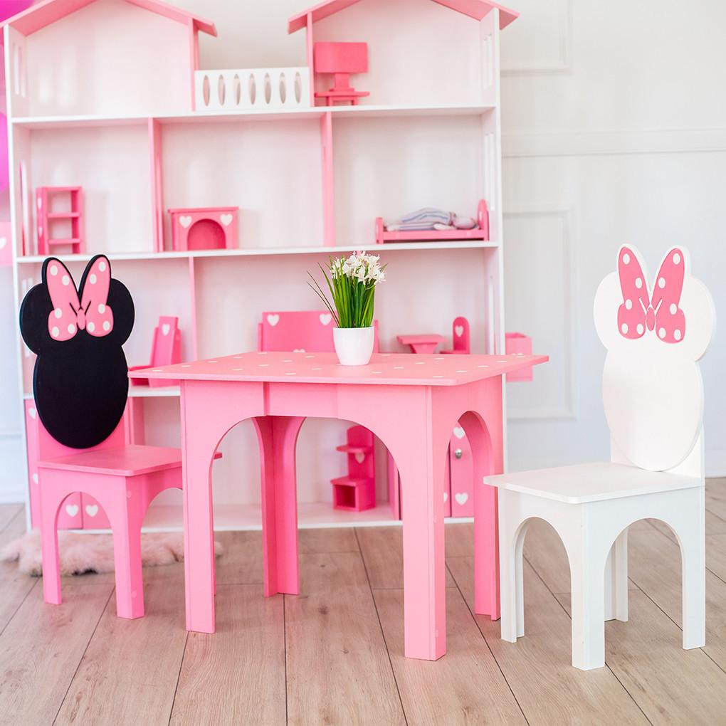 Комплект KiddyRoom Микки стол + 2 стула Розовый