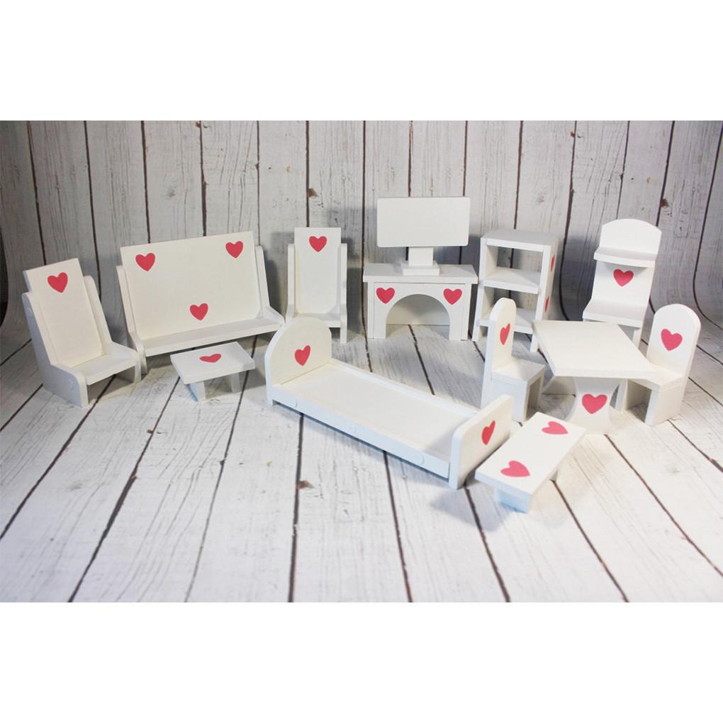 Мебель для кукольного домика KiddyRoom Белый