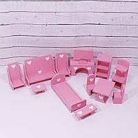 Мебель для кукольного домика KiddyRoom Розовый