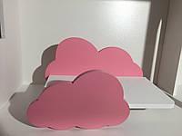 Подвесная Полочка в детскую Тучка Kiddyroom Розовый с Белым