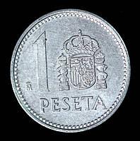 Монета Испании 1 песета 1982 г. Хуан Карлос I