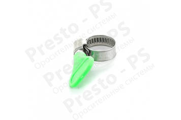 Хомут червячный Presto-PS для шланга 12-20 мм металлический с барашком, в упаковке - 100 шт. (12*20b)