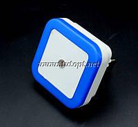 Ночник светодиодный с датчиком квадрат Синий №250