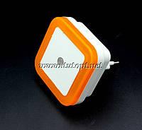 Ночник светодиодный с датчиком квадрат Оранжевый №250