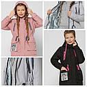 Яркая модная куртка парка весна-осень для девочек 8297 тм X-Woyz размеры 122-164, фото 3