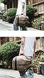 Рюкзак коричневий мішковина, фото 3