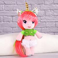 Мягкая игрушка Девочка Единорог с волосами тм Копиця