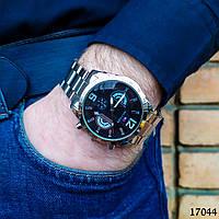 Часы мужские в стиле Tommy Hilfiger. Мужские наручные часы серебристые С черным циферблатом Годинник чоловічий