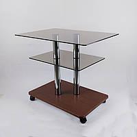 Стол журнальный стеклянный прямоугольный Commus Bravo Light P6 bronza-dubgold-2chr50