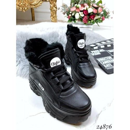 Зимние ботинки Buffalo натуральная кожа мех