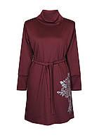 Платье МАРИНКА,классика,ворот,французский трикотаж, фото 1
