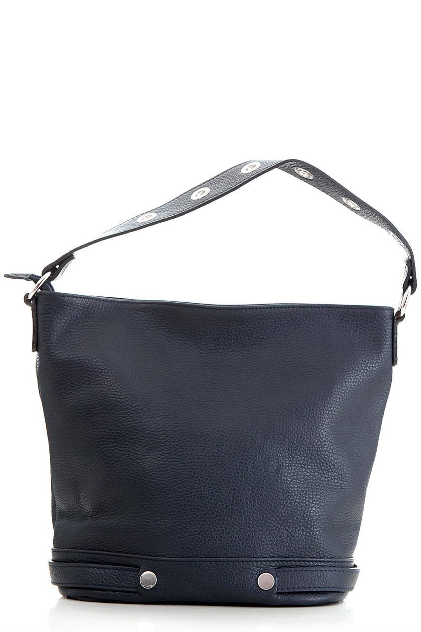 Diva's Bag Женская кожаная сумка FUNNY  цвет темно-синий