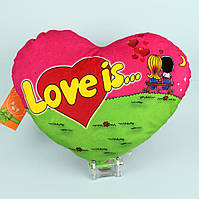 "Декоративная подушка сердце ""Love is"" 30 см"