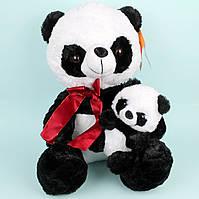 Мягкая игрушка Панда с малышем 40 см