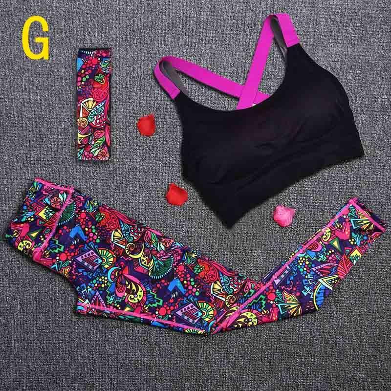 Спортивный костюм женский для фитнеса, йоги. Комплект лосины, топ, повязка, размер M