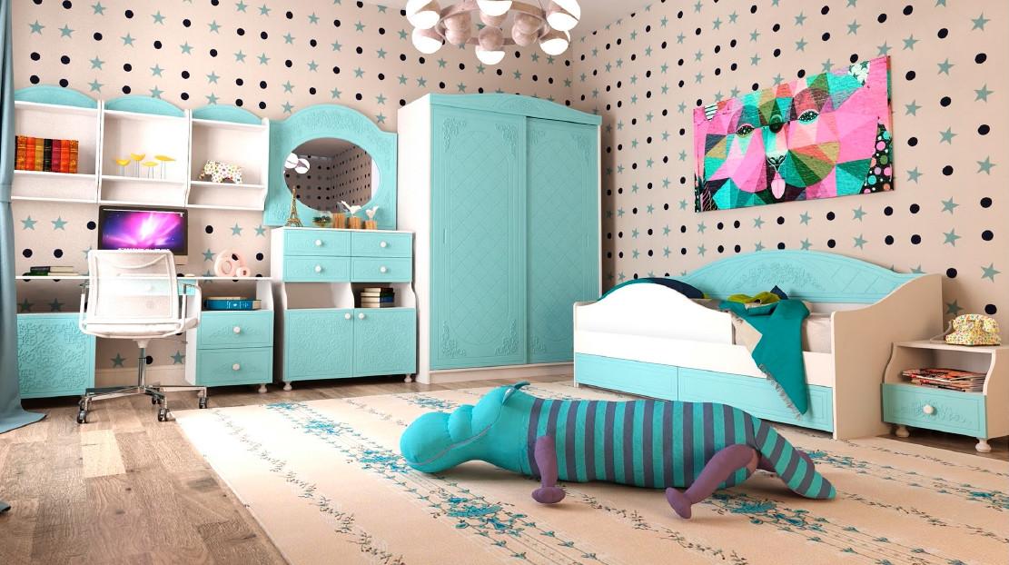 Ліжко-тахта Art-In-Head Amelie Н-238 блакитна лагуна