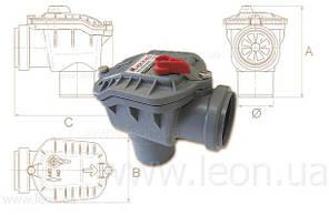 Capricorn обратный клапан канализационный 50 угловой