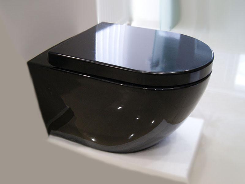 Чаша подвесного унитаза Rimless Modern с сиденьем 3823B NEW черный NEWARC