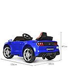 Детский электромобиль Ford Mustang M 3632EBLR-4 синий, фото 7