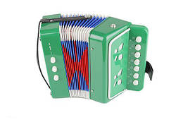Музыкальная Гармошка для детей Shantou Huada Toys, зелёная