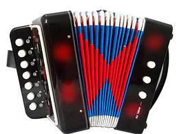 Детская музыкальная гармошка Shantou Huada Toys, черная