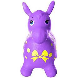 Надувная лошадка прыгун резиновая, фиолетовая (MS 0372Violet)