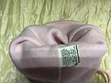 Двойная розовая шапочка для девочки с ушками на возраст до года, фото 3