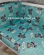 Набор детского постельного белья в кроватку - 9 предметов / Бортики в кроватку / Защита в манеж, фото 2