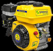 Двигатель бензиновый  Sadko GE-200PRO  (6,5 л.с., ручной стартер, шпонка Ø19мм, L=58мм) + доставка