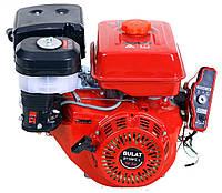 Бензиновый двигатель BULAT  BТ190FЕ-L (16,0 л.с., эл.старт, шпонка Ø25мм, L=72мм, редуктор)+доставка, фото 1