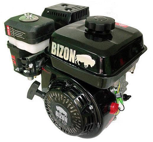 Двигатель бензиновый Bizon 170F (6,5 л.с., шлицы Ø25мм, L=36,5мм)+доставка