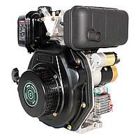 Двигатель дизельный Grünwelt GW178FE  (6 л.с., вал шлиц Ø25 мм, электростартер) Бесплатная доставка