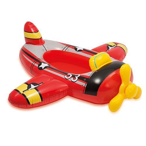 Надувной плотик детский для плавания Intex Самолет 100х97 см, разноцветный