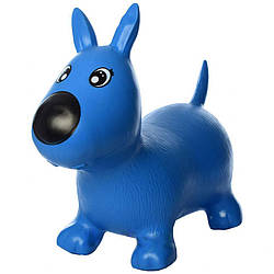 Детский игровой надувной прыгун собачка Метр+, синий