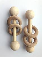 Погремушка с двумя кольцами