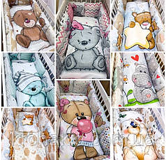 """Набор постельного белья в детскую кроватку/ манеж """"Мишки"""" - Бортики / Защита в кроватку, фото 3"""
