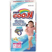 Трусики-подгузники GOO.N для девочек 12-20 кг  размер Big  XL , 38 шт