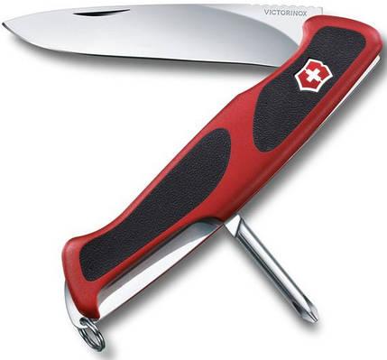 Качественный складной нож Victorinox RangerGrip 53 09623.С красный