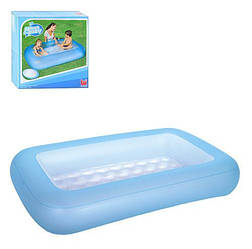 Детский бассейн надувной прямоугольный Bestway на 102 литра, синий