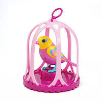 Игровой набор с интерактивной птичкой DigiBirds ДЖУЛЬЕТТА  в большой клетке, со свистком